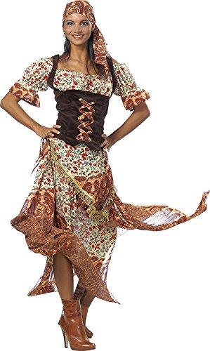 Zigeunerin Kostüm Kleid Damen Halloween Weiberfastnacht Fasching