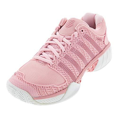 K-Swiss Women's Hypercourt Express Tennis Shoe (Coral Blush/White, 5)