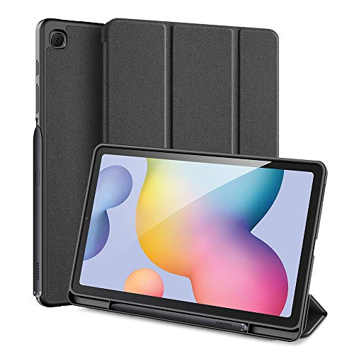 Dux Ducis - Case for Samsung Galaxy Tab S6 Lite - Domo Book Case - Tri-fold Cover with Pencil Holder - Black