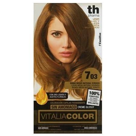 Th Pharma Th Vitalia Color Tinte Nº 703 Rubio Medio Natural Dorado Sin Amoniaco 100 g
