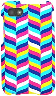 Cell Armor Snap-On Cover for BlackBerry Q5 - Retail Packaging - White/Blue/Pink/Yellow Chevron