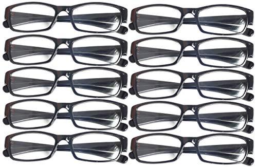 Lesebrille Lesehilfe Brille +1 +1,5 +2 +2,5 +3 +3,5 +4 Schwarz (+3,5)