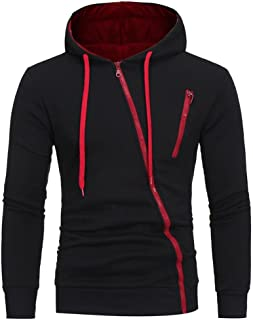Men's Eco Zip Hoodie Sweatshirt, Mens' Long Sleeve Hoodie Hooded Sweatshirt Tops Jacket Coat Outwear