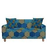 MKQB Funda de sofá de celosía geométrica, Funda de sofá elástica para Sala de Estar, Funda de sofá con reposabrazos de Esquina Antideslizante y Lavable NO.8 4seat-XL- (235-300cm)