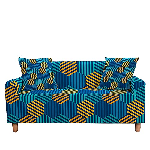 WXQY Funda de sofá elástica con Estampado de Mariposas Funda de sofá en Forma de L con Todo Incluido Funda de sillón Funda de sofá Antideslizante Envuelta herméticamente A9 3 plazas