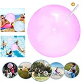 Wasserball Bubble, Bubble Ball Spielzeug, Weichgummiball, Bubble Ball Wassergefüllter Interaktiver,Bubble Balloon,Bubble Ball Aufblasbar für Sommer Strand,Bubble Ball Reißfest (Rosa, Small)