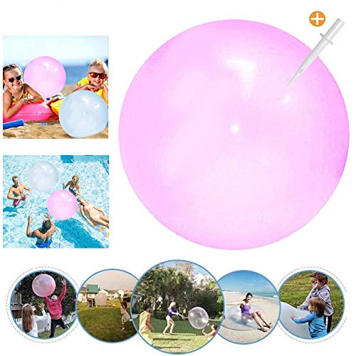 Wasserball Bubble, Bubble Ball Spielzeug, Weichgummiball, Bubble Ball Wassergefüllter Interaktiver,Bubble Balloon,Bubble Ball Aufblasbar für Sommer Strand,Bubble Ball Reißfest (Rosa, Small)