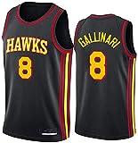 XSJY Camiseta De Baloncesto para Hombres NBA Atlanta Hawks 8# Danilo Gallinari Cómodo/Ligero/Transpirable Malla Bordada Swing Swing Sworing Sweatshirt,M:170~175cm/65~75kg