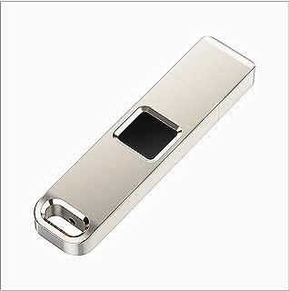 32G U Disk,Metal Fingerprint U Disk, Fingerprint Encryption, USB 2.0 Flash Drive, High-Speed Recognition, for Business/Personal Data Security (32G)