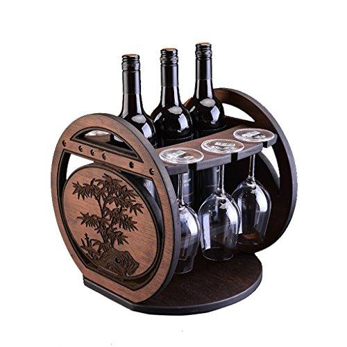 XXT Decoración del Estante del Vino Creativo Estante de Botella Europeo Estante del Estante del Vino de Madera Estante del Vino invertido gabinete salón hogar