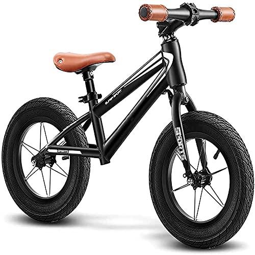 LIfav Bicicleta De Equilibrio para Niños Sin Pedales Scooter De Aprendizaje De Altura Ajustable con Manubrio Giratorio para Bicicletas De Niños De 2 A 6 Años,16in