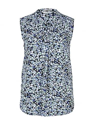 TOM TAILOR Damen 1025048 Top Bluse, 27263-Navy Floral Design, 38