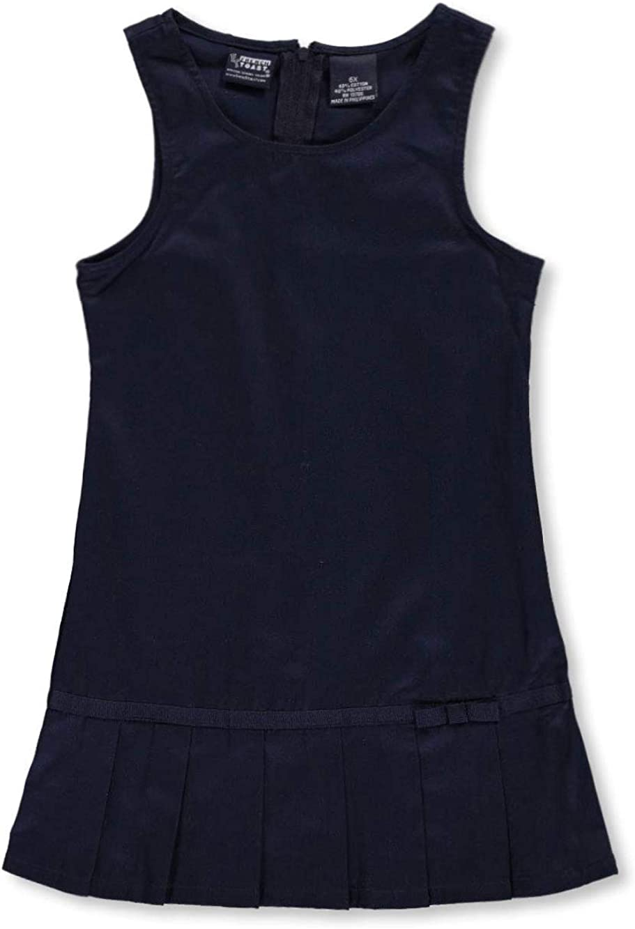 French Toast Big Girls' Pleat Bow Jumper - Navy, 10