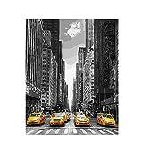 CBYLDDD New York Street Pintura por números Sala de Estar de Aceite Digital Paisaje Animación Personaje Coloración Decoración Manual 16x24in Sin Marco