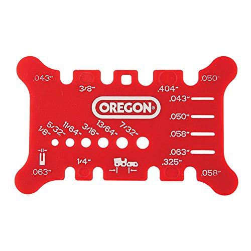Oregon 556418 - Varilla para sierra de cadena y medidor de cadena, color rojo