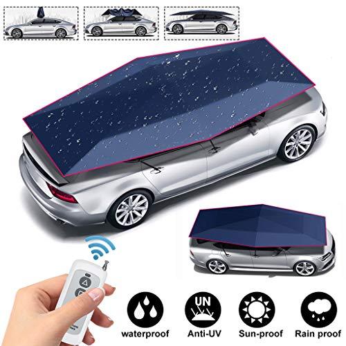 Auto bescherming 4.2 meter automatische 2 in 1 opvouwbare auto tent hoes, auto isolatie zonnescherm zonnescherm uv-bescherming met afstandsbediening voor gebruik buitenshuis