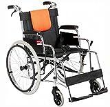 SOAR Silla de ruedas plegable Silla de ruedas plegable de peso ligero, Apoyos Heavy Duty, plegable Sillas de ruedas for minusválidos en silla de ruedas, viejo gente paciente en silla de ruedas Heavy D