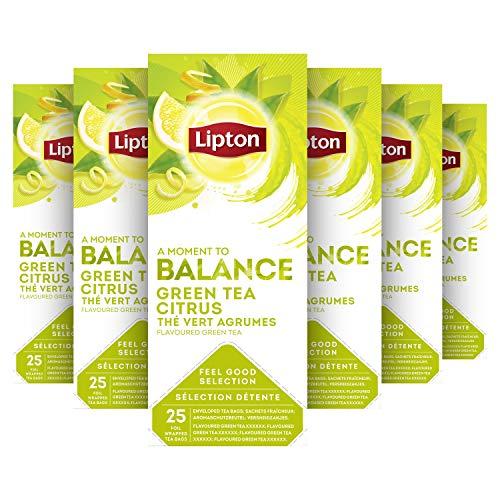 Lipton Feel Good Selection Groene Thee 6 x 25 zakjes Voordeelverpakking