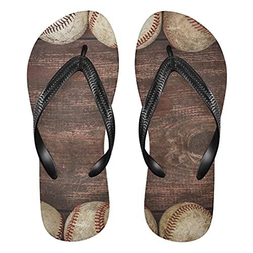 Linomo Chanclas de madera para hombre y mujer, para verano, para la playa, color Multicolor, talla 41/42 EU