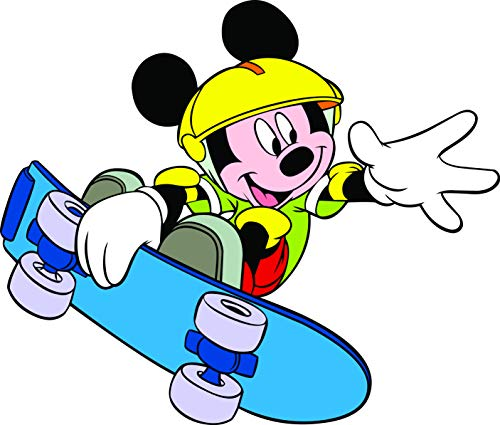 Mickey Mouse Skateboard Disneyland Cartoon Cartoon Émission TV Personnage Baby Nursery Design Vinyle Art Decor Stickers muraux Stickers Chambre Taille 50,8 x 50,8 cm