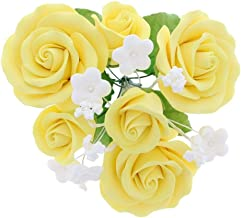 White Sugar Roses Available in Large and Medium Also Available in 6 Count or Bulk Pricing