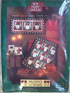 Sew Many Santas! Mumm's the Word Sewing Pattern for Santa Quilt, Quilted Wall Hanging, and Christmas Card Pattern