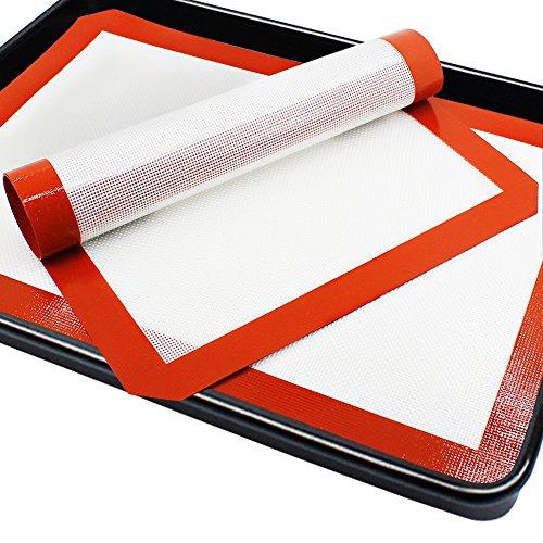 Prima de la hornada del silicón de la estera por saludable para cocinar del PhatMat, reemplazo del papel de pergamino para las galletas, hoja Horno reutilizable trazadores de líneas, Tamaño 16.5 'x 11 5/8' - 2 Paquete de Senhai