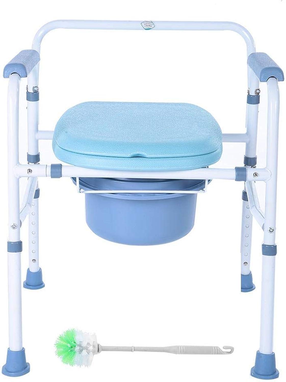 Jeffergarden Commode Chair Klappeimer Mobiler Toilettenhocker Antimikrobieller Schutz Tragbarer Toilettensitz für zu Hause