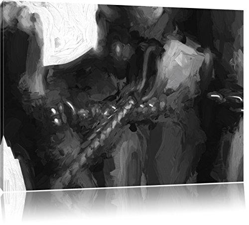 Pixxprint Frau in Handschellen Kunst als Leinwandbild | Größe: 120x80 cm | Wandbild | Kunstdruck |...