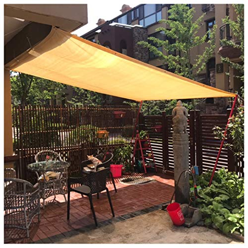 Beige Sun Shade Sail Home Garden Awnings Outdoor Protection Covers Shade Rate Hi-Quality Sun Shelter Canopy Square Patio Glass House, Customized Size (Size : 3.5x8M(10.5x26.2ft))