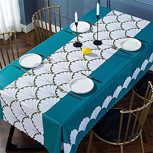 SUNFDD Tovaglia in PVC Rettangolare Antivegetativa Tovaglia Impermeabile Antiolio Tavolo Quadrato Tavolino Tavolino Facile da Pulire Festa Giardino Cucina Picnic All'Aperto 137x220cm
