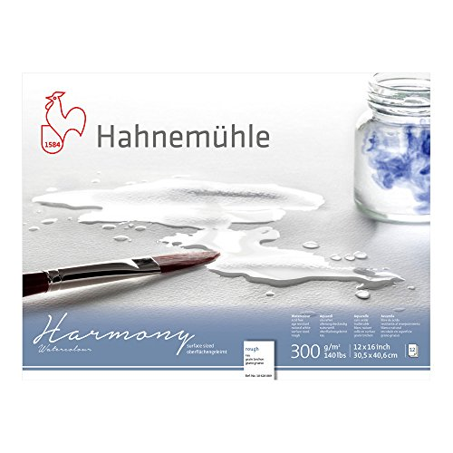 Hahnemuhle Harmony Watercolor Block Rough,White,12x16 inches 12 Sheets