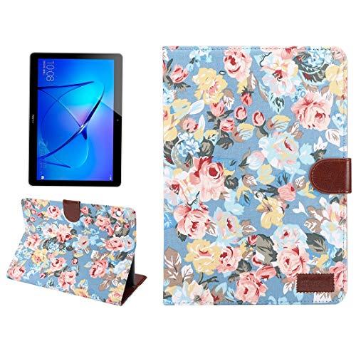 Custodie per Tablet PC Huawei MediaPad M3 Lite 10 pollici motivo floreale superficie PC orizzontale Flip Custodia protettiva in pelle con supporto & card slot & portafoglio & Photo Frame (nero) orizzontale Flip Adju