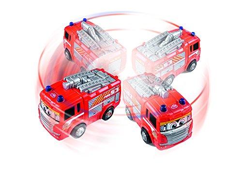 RC Auto kaufen Feuerwehr Bild 6: Dickie Toys 203814031 - RC Happy Scania Fire Engine, funkferngesteuertes Feuerwehrauto, für Kleinkinder ab 2 Jahren, 27 cm*