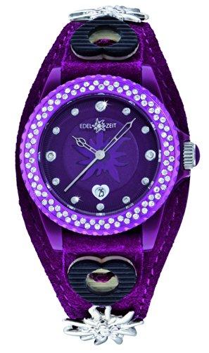 Damen-Armbanduhr Edelweiss Analog Quarz Leder EZDV04