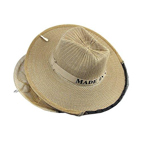 Cuigu Cowboy Hut mit Antimoskito Bienen Insekten Gesichts Schleier, für Imker und Gärtner