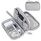 FYY Electronic Organizer, Travel Cable Organizer Bag Pouch Electronic Accessories Carry Case Portable Waterproof Double Layers All-in-One Storage Bag for Cable, Cord, Charger, Phone, Earphone Grey