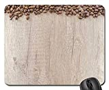 HZMJPAD Mouse Pad - Coffee Wood Caffeine Espresso Table Brown Cafe 1 Rectangle Non-Slip Rubber Mouse Pad(8.9x7.1 Inches)