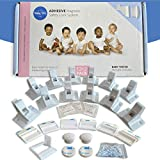 Baby Wiz Adhesive Baby Locks for Cabinets and Drawers, 12 Child Safety Cabinet Locks & 2 Keys, Magnet Cabinet Lock, Child Cabinet Locks, Child Locks for Kitchen cabinets
