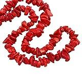 TreasureBay Impresionante collar de coral natural de 84 cm para mujeres y niñas, Coral,