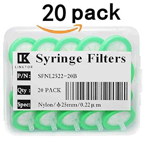 Syringe Filters Nylon 25 mm 0.45 um Non Sterile 50//pk by KS-Tek