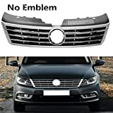MUTUSAISI Front Bumper Center Upper Grille Chrome Cover Grill Compatible with VW CC 2013 2014 2015 2016 2017 2018