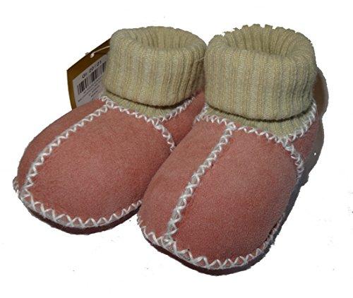 Baby di pelliccia di agnello guanti con polsini in maglia, rose