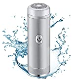 Electric Facial Hair Removal for Women, Portable Mini Ladies Hair Shaver Razors Trimmer 3 Colors Epilator for Face Bikini Lip Chin Private Parts Painless, Rechargeable (Silver)