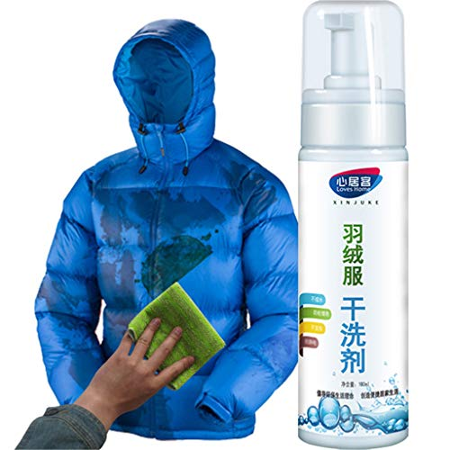 Shan-S Waterless Clothing Cleansing Foam Spray,Natural Decontamination Down Jacket Dry Cleaner, Convenience Wash-Free Spray for Down Jacket, Clothes, Shoes, Sofa, Bags, Helmet and Washers