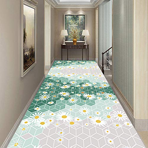 ZQIAN Alfombra Dormitorio 1.4x4.5m Antideslizante FáCil Limpieza Alfombras de Runner Durable, para Pasillo, Habitación, Cocina, D