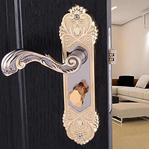Porte interne di blocco maniglia serratura serrature la camera da letto in stile europeo Vanme titanio nero oro cuscinetto in legno porta serratura bagno con manico