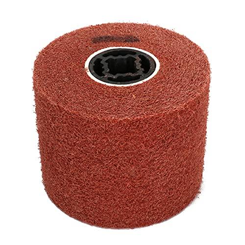 Rueda de pulido de 125 x 100 x 20 mm, rueda abrasiva no tejida de dibujo de alambre, rueda de dibujo de alambre para máquina pulidora lijadora grano 80 #