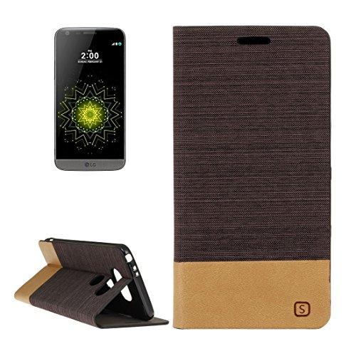 Casse del telefono mobile & Cover, Per LG modello G5 Canvas PU + TPU del cuoio di vibrazione orizzontale con il supporto e slot per schede