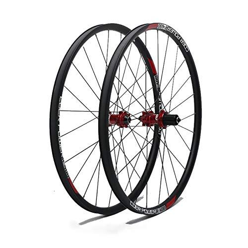 Ruedas Ciclismo,26,27.5,29 Pulgadas Aleación de Aluminio Freno de Disco de Seis Clavos Cuatro Rodamientos Apto para Bicicletas Juego Ruedas MTB 27.5 Inch